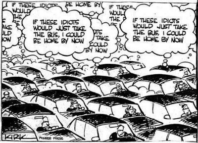 Cuando llueve en Zaragoza todo el mundo se acuerda de que tiene coche... hasta los que no tienen carnet